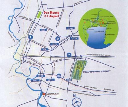 Bangkok airports Map