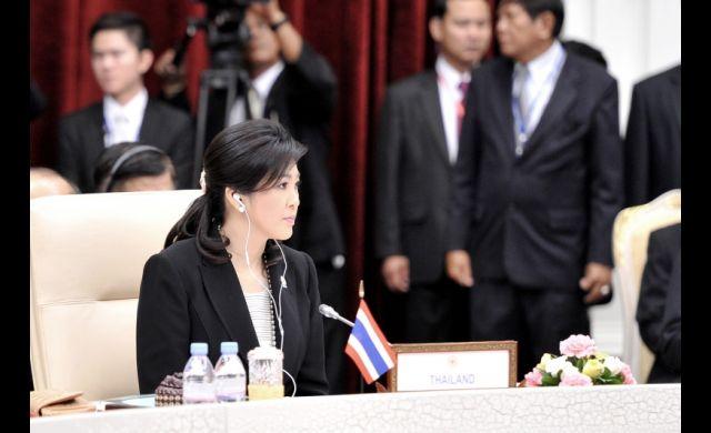 Thai PM Yingluck Shinawatra at Asean Japan meeting