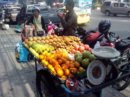 Thai fruit street vendor