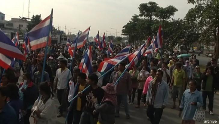 Rice farmers demonstration