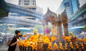 Erawan Shrine, one of the most visit attractions in Bangkok.