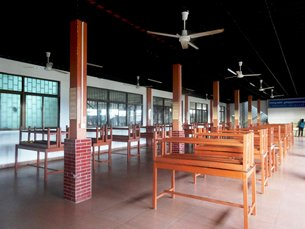 Photo: A canteen in one garment factory in Phnom Penh Special Economic Zone.
