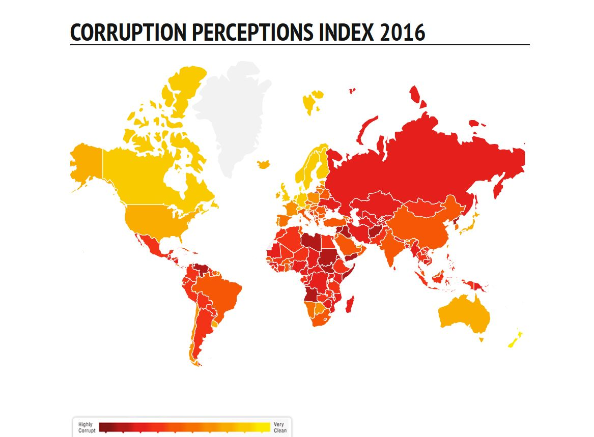 China's Anti-Corruption Efforts Pay Off: Analysis of 2016 Corruption Perception Index