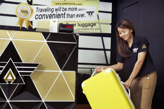 Free luggage deposit at Suvarnabhumi Airport