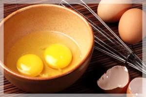 Eggs, the main ingredient