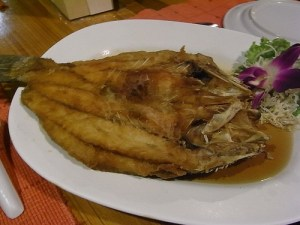 Fried Fish and fish sauce