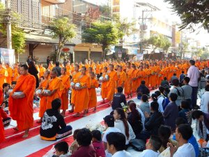 12600 monks collect alms Chiang Mai