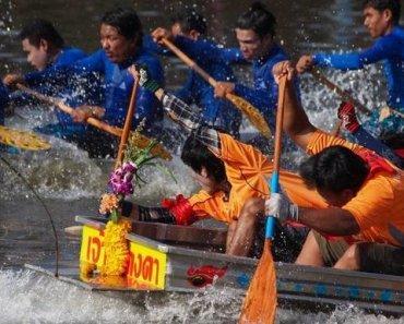 Thailand Festivals Longboat racing 2016
