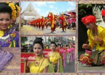 Buddhism in Thailand Bun Phawet Fair Ancient Stories accompanied by 13 Processions
