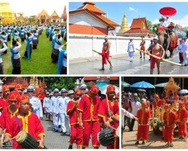 Thailand festivals Ritual Bathing Ceremony