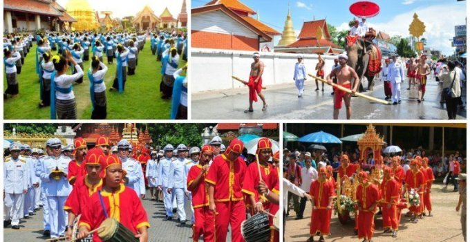 Thailand festivals Ritual Bathing Ceremony for Phra That Hariphunchai Chedi