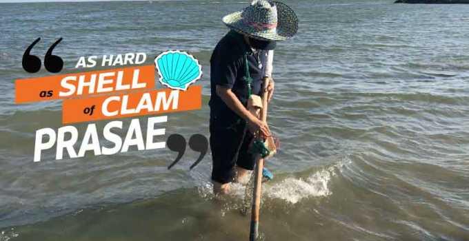 Shellfish harvesters of Prasae Thailand