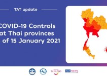 TAT update: Summary of provincial COVID-19 control measures as of 15 January 2021