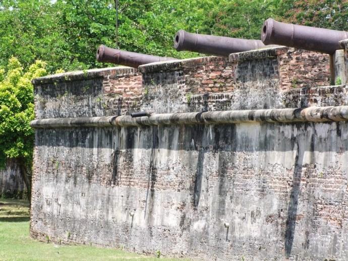 canon mur fort cornwallis penang malaisie