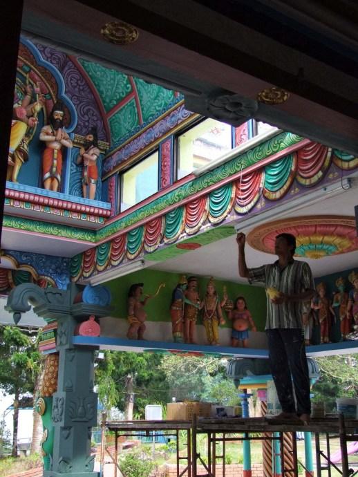 peinture temple hindou penang hill malaisie
