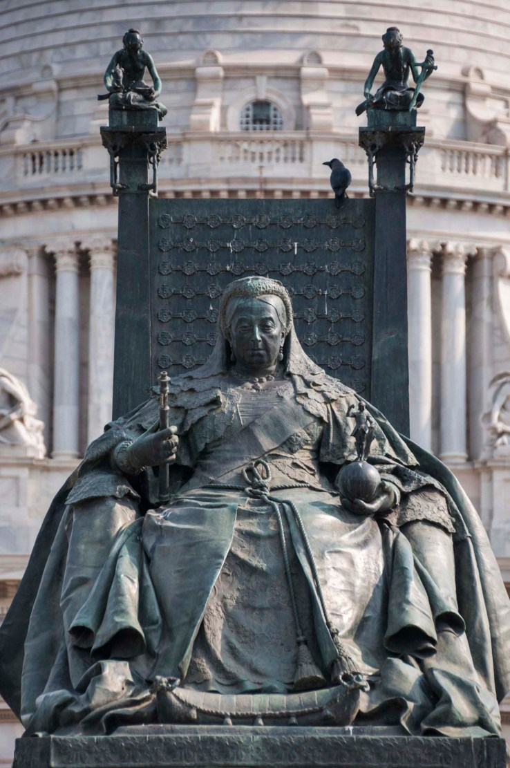 statue victoria memorial calcutta - inde