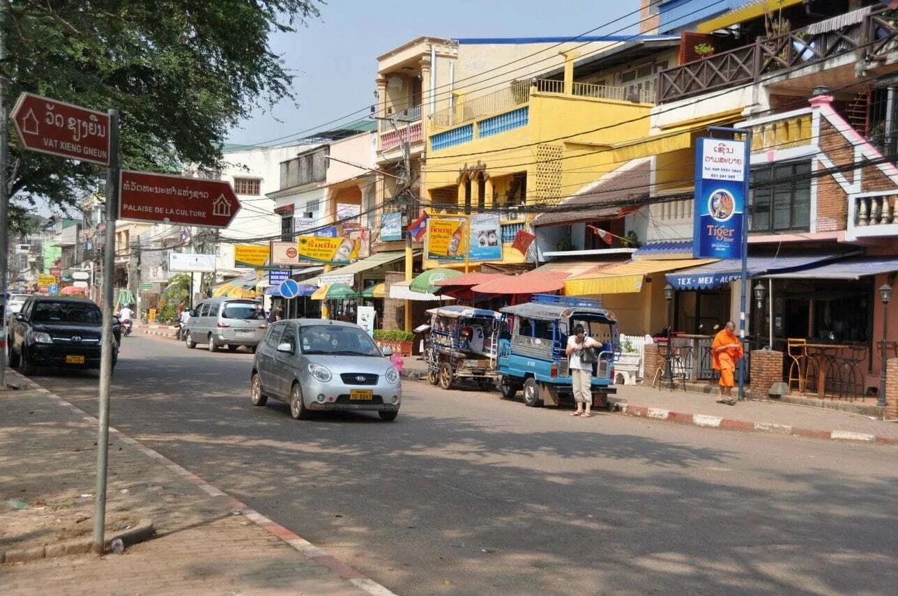 rue proche parc Anouvong Vientiane Laos