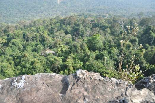 Point de vue sur Cambodge depuis Khao Phra Wihan National Park