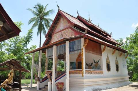 temple thakek laos