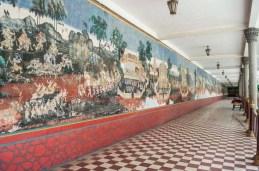 Fresque au Palais Royal Phnom Penh