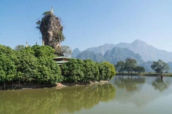 monastère de Kyauk Kalap Hpa An Birmanie
