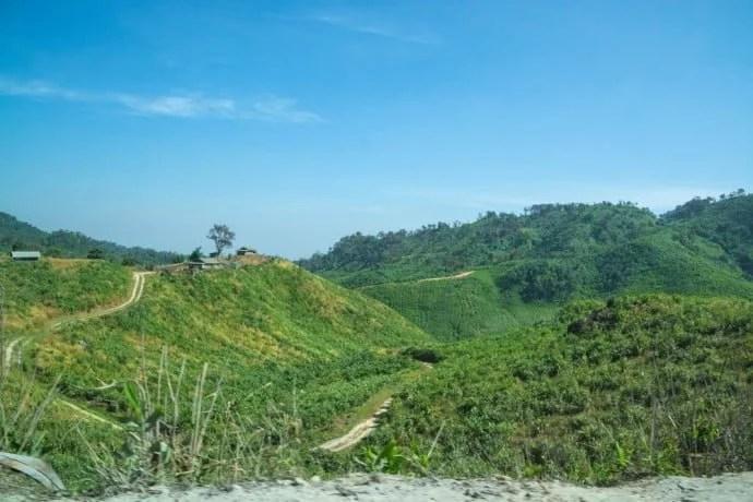 trajet hpa an myawaddy birmanie
