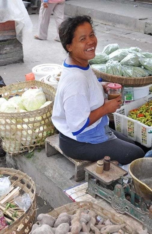 marché borobudur ile java indonesie