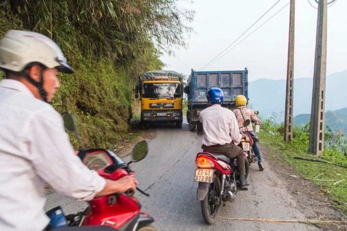 moto nord Vietnam - route entre Vinh Quang et Ha Giang