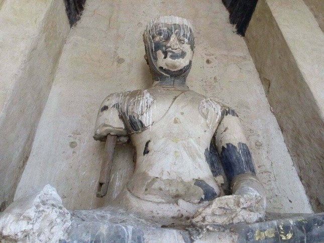 statue bouddha Wat Chai Watthanaram - Ayutthaya