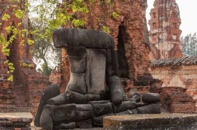 statue bouddha Wat Mahathat - Ayutthaya