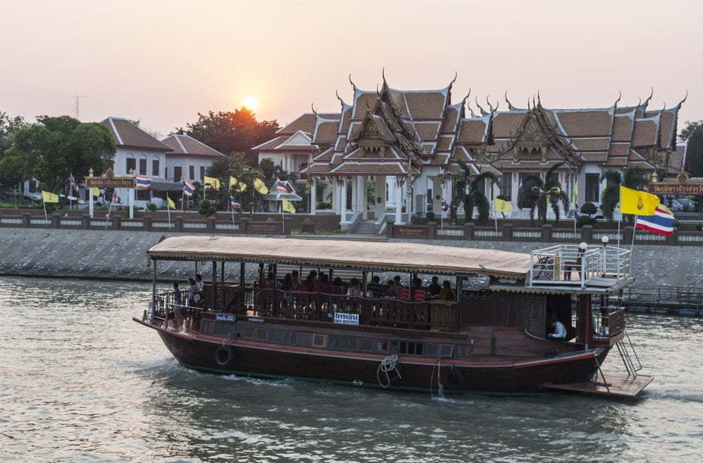 Bateau sur le Chao Phraya - Ayutthaya