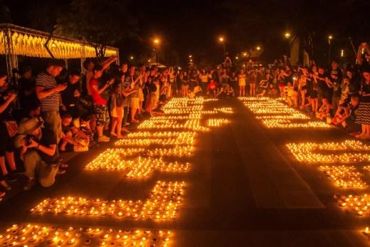 bougies three monument kings chiang mai loi krathong