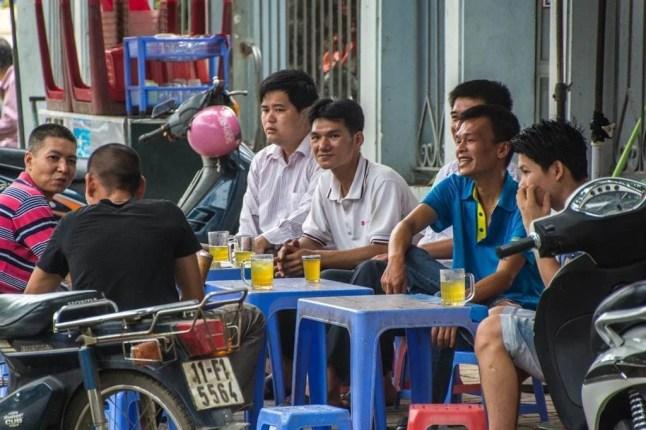 pause thé à Cao Bang au Vietnam