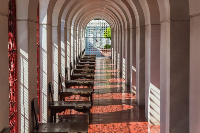 couloir loha prasat metal castle - bangkok