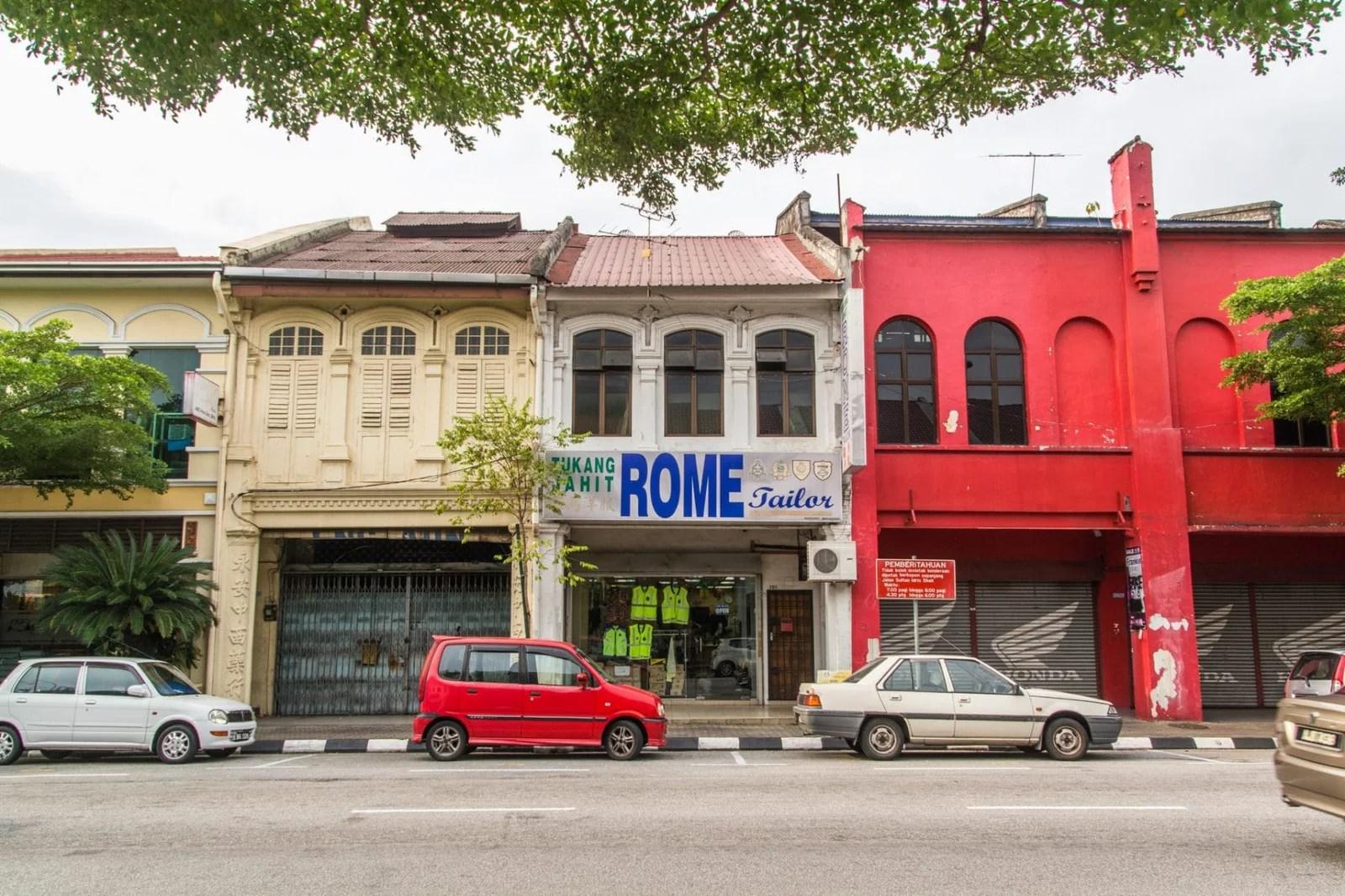 rangée de maisons à ipoh - malaisie