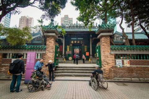 façade tin hau temple - hong kong