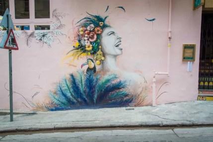 street art peel street - hong kong