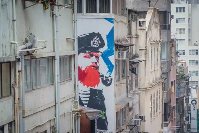 street art wall peel street - hong kong