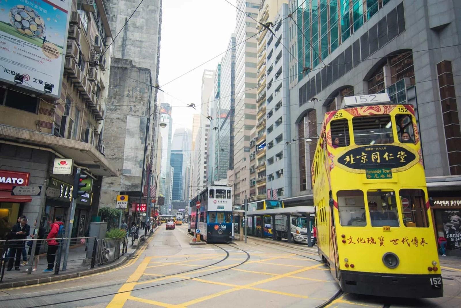 tramway sheung wan - hong kong