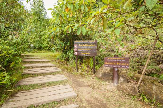 départ du kew mae pan trail doi inthanon - chiang mai