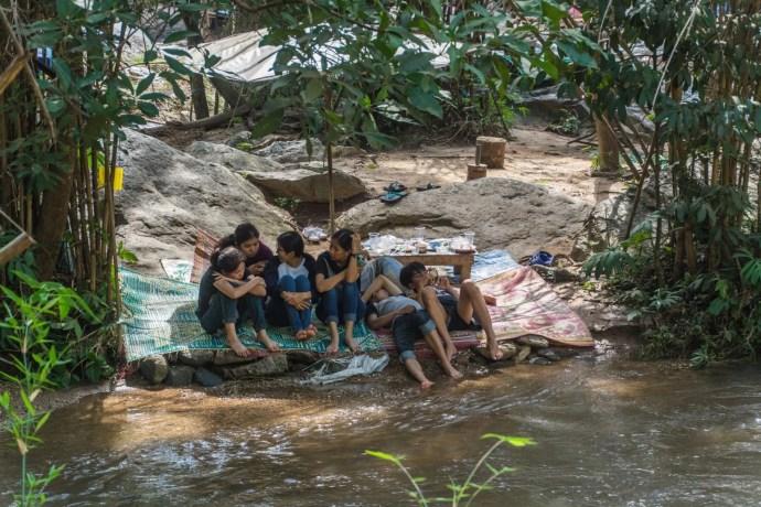 pique nique mae klang waterfall doi inthanon - chiang mai