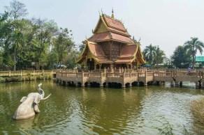 étang wat phra that pha-ngao - chiang saen - thailande