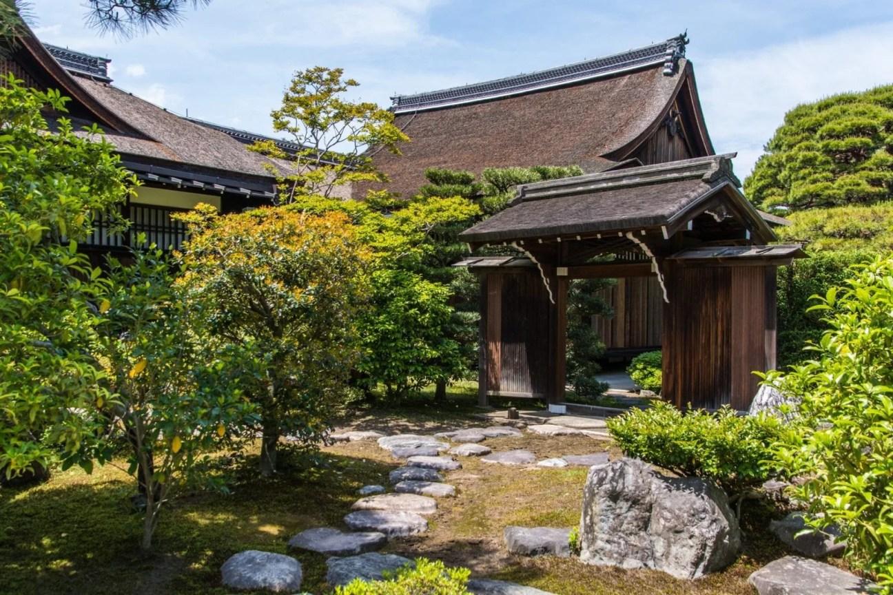au palais imperial de kyoto