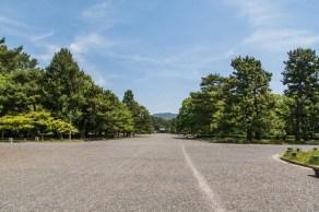 devant jardin palais imperial kyoto