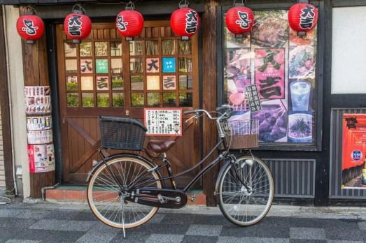 velo devant restaurant kyoto - japon