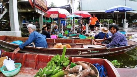 marche flottant tha kha floating market - thailande