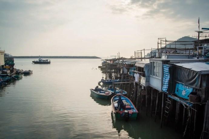 coucher soleil village tai o - lantau island hong kong