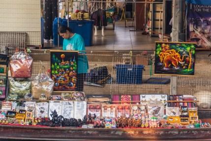 installation souvenirs marché damnoen saduak