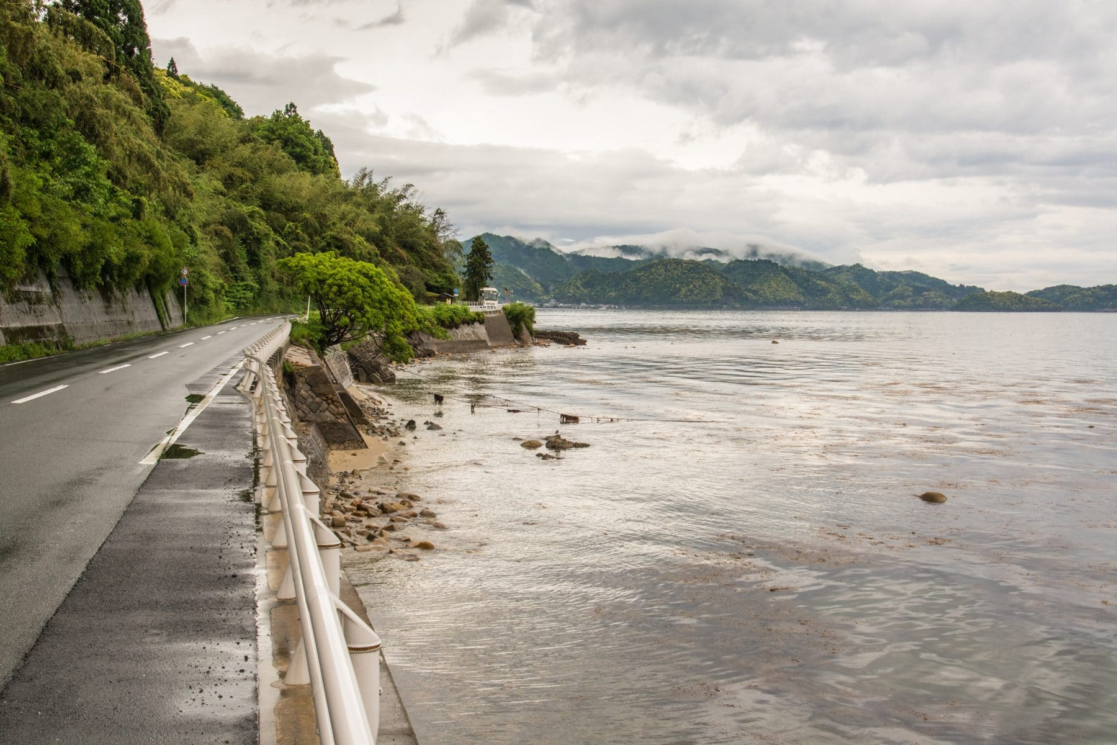 route cotiere pres village ine - japon