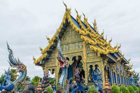 temple bleu wat rong suea ten - chiang rai
